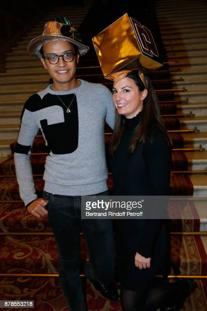 Nicolas and Catherinette of Paco Rabanne attend Maisons de Couture of Paris Celebrate SainteCatherine at Mairie de Paris on November 24 2017 in Paris...