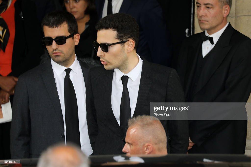 Liliane Bettencourt's funeral at Eglise Saint Pierre In Neuilly Sur Seine : News Photo