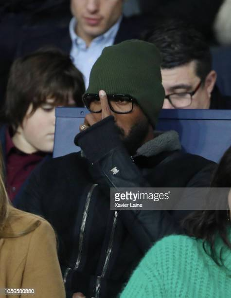 Nicolas Anelka attends the French Ligue 1 match between ParisSaint Germain and Lille OSC at Parc des Princes on November 2 2018 in Paris France