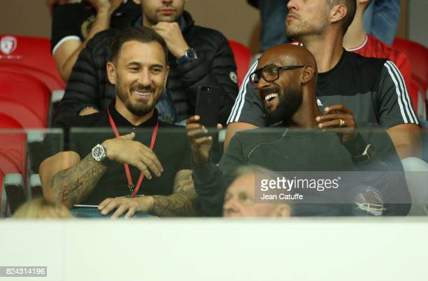 Nicolas Anelka attends the pre-season friendly match between Lille OSC and Stade Rennais FC at Stade Pierre Mauroy on July 29, 2017 in Lille, France.