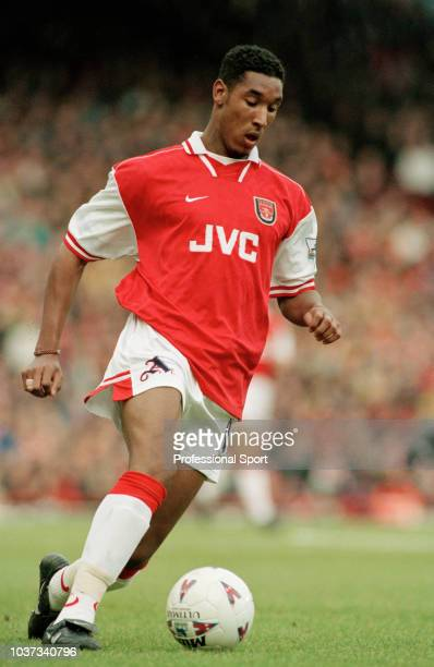 Nicolas Anelka of Arsenal in action during the FA Carling Premiership match between Arsenal and Crystal Palace at Highbury on February 21 1998 in...