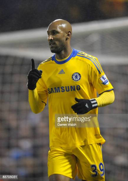 Nicolas Anelka of Chelsea celebrates scoring his team's second goal during the Barclays Premier League match between West Bromwich Albion and Chelsea...