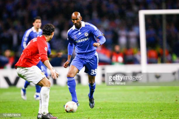 Nicolas ANELKA of Chelsea during the Champions League finale match between Manchester United and Chelsea on May 21 2008 at the Loujniki stadium in...