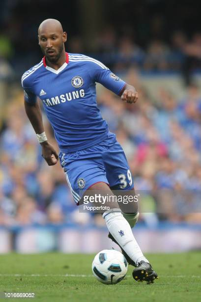 Nicolas Anelka of Chelsea in action during the Barclays Premier League match between Chelsea and West Bromwich Albion at Stamford Bridge in London on...