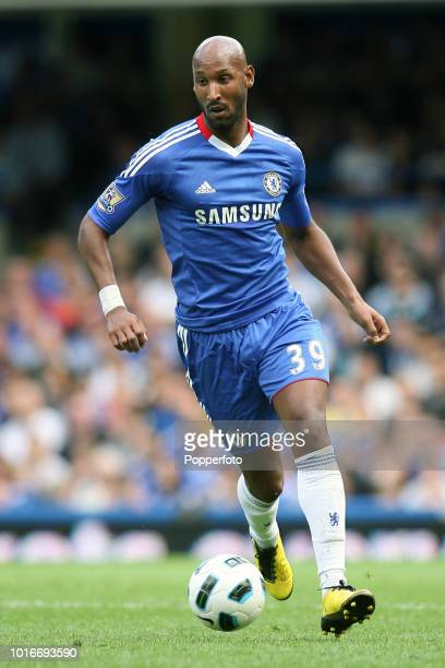 Nicolas Anelka of Chelsea in action during the Barclays Premier League match between Chelsea and Stoke City at Stamford Bridge in London on August 28...