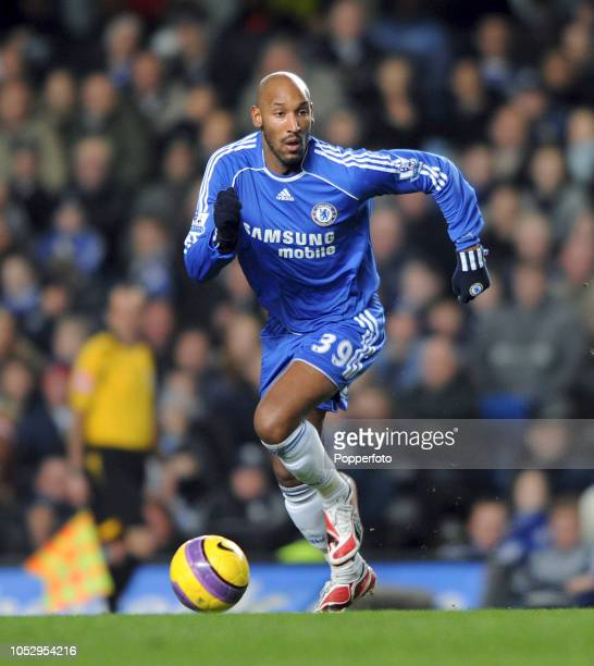 Nicolas Anelka of Chelsea in action during the Barclays Premier League match between Chelsea and Reading at Stamford Bridge on January 30 2008 in...