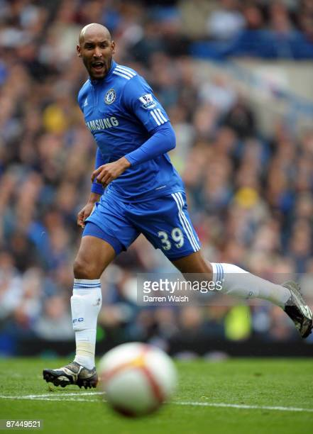 Nicolas Anelka of Chelsea in action during the Barclays Premier League match between Chelsea and Blackburn Rovers at Stamford Bridge on May 17 2009...