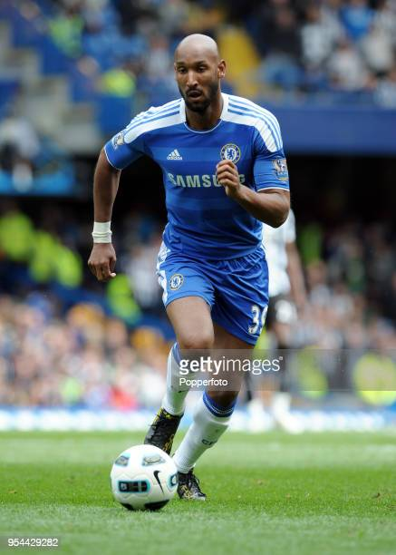 Nicolas Anelka of Chelsea in action during the Barclays Premier League match between Chelsea and Newcastle United at Stamford Bridge on May 15 2011...