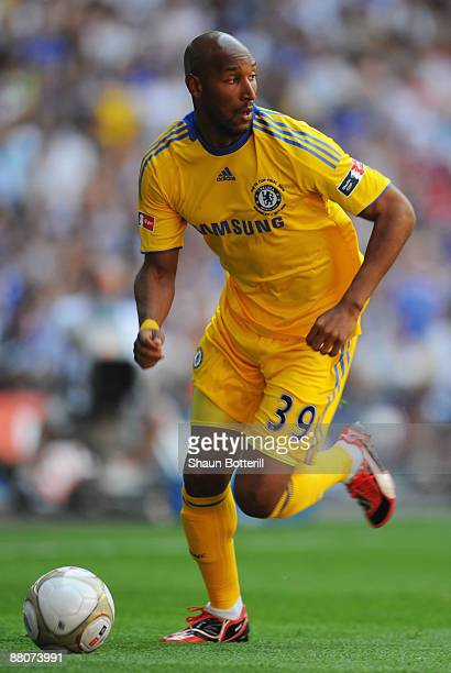 Nicolas Anelka of Chelsea in action during the FA Cup sponsored by EON Final match between Chelsea and Everton at Wembley Stadium on May 30 2009 in...