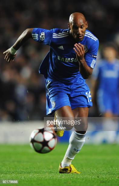 Nicolas Anelka of Chelsea in action during the UEFA Champions League Group D match between Chelsea and Atletico Madrid at Stamford Bridge on October...