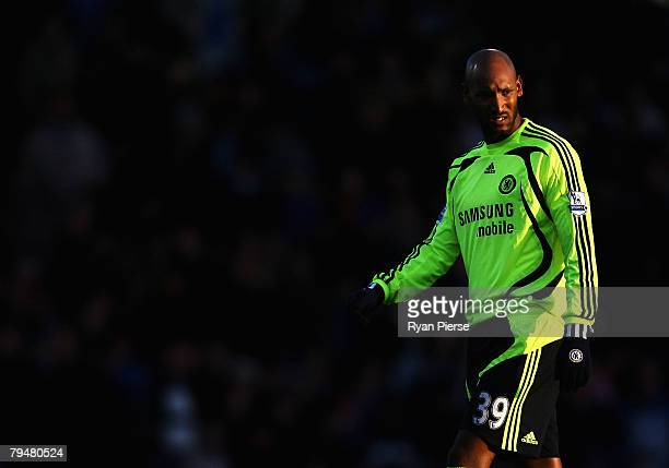 Nicolas Anelka of Chelsea looks on during the Barclays Premier League match between Portsmouth and Chelsea at Fratton Park on February 2, 2008 in...