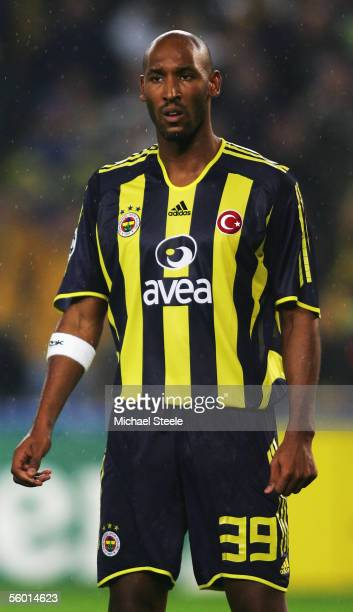 Nicolas Anelka of Fenerbache in action during the Uefa Champions League Group E match between Fenerbahce and Schalke 04 at the Sukru Saracoglu...