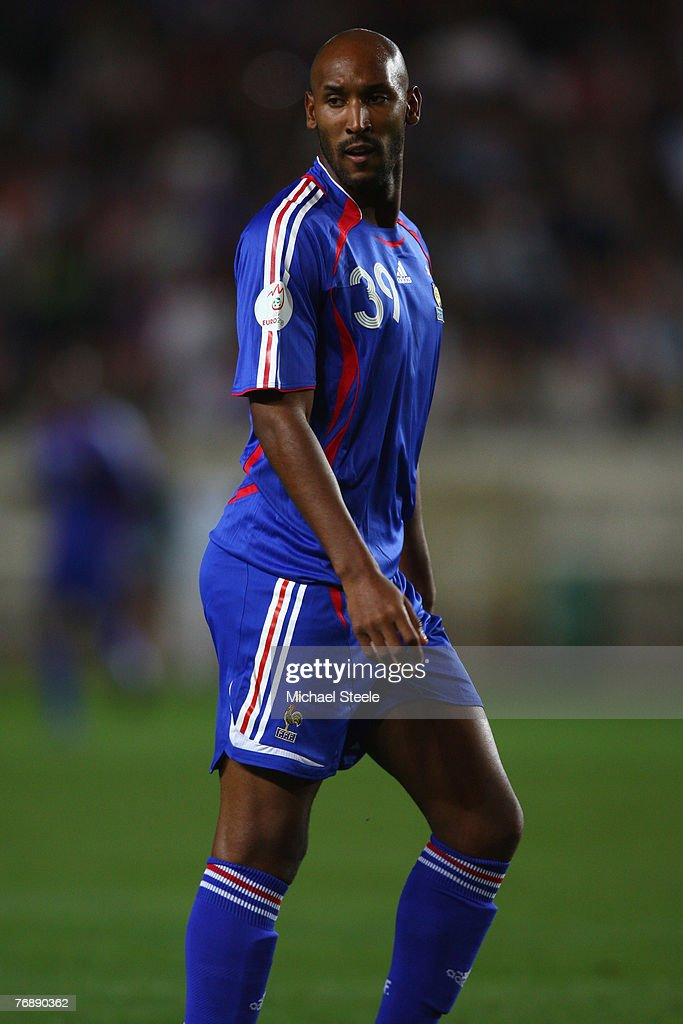 Nicolas Anelka of France during the Euro 2008 Group B qualifying match between France and Scotland at the Parc de Princes on September 12th,2007.