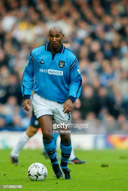 Nicolas ANELKA of Manchester City during premier league match between Manchester City and Chelsea at Etihad Stadium at Manchester on October 19th 2002