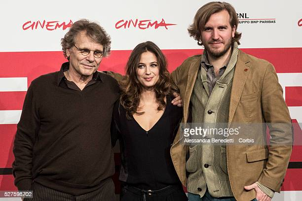 Nicolas Bary Melanie Bernier et Daniel Pennac attend the photocall of movie Au Bonheur des Ogres during the 8th International Rome Film Festival