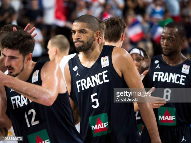Nicolas Batum from France after the FIBA Basketball Wolrd cup 2019 qualifier match between France and Finland at the Sud de France Arena on September...