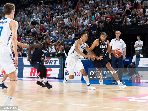 Nicolas Batum from France in action during the FIBA Basketball Wolrd cup 2019 qualifier match between France and Finland at the Sud de France Arena...