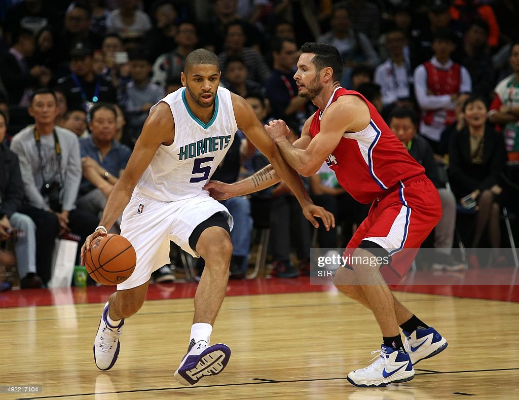 BASKET-USA-CHN-NBA-CLIPPERS-HORNETS : News Photo