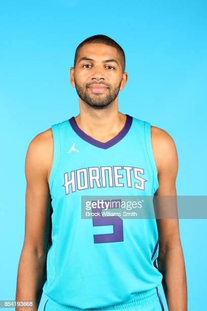 Nicolas Batum of the Charlotte Hornets poses for a head shot during media day at Spectrum Center in Charlotte North Carolina NOTE TO USER User...
