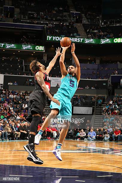 Nicolas Batum of the Charlotte Hornets stb aPortland Trail Blazers on November 15 2015 at Time Warner Cable Arena in Charlotte North Carolina NOTE TO...