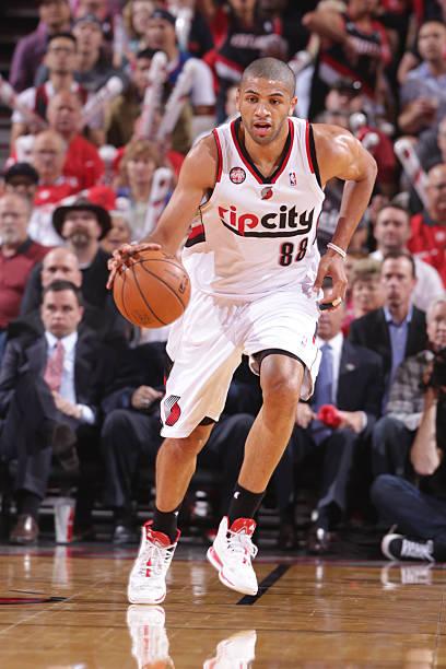 Nicolas Batum of the Portland Trail Blazers vs. Spurs. May '14.