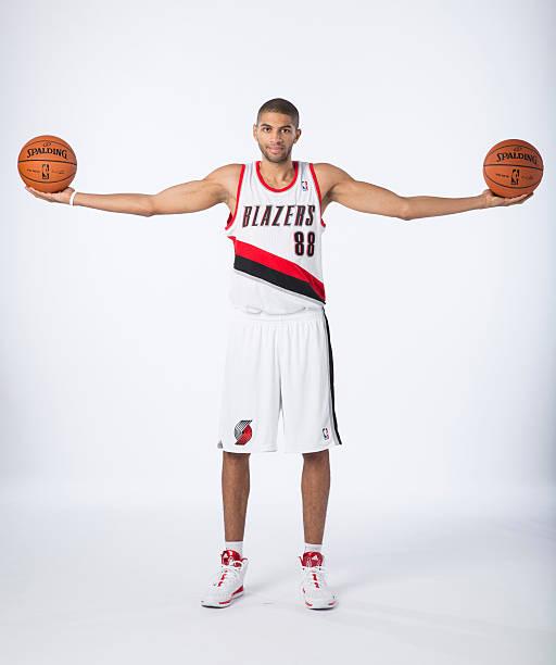 Nicolas Batum Of The Portland Trail Blazers NBA Media Day Wall Art