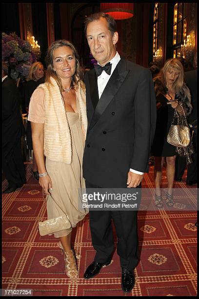 Nicolas Bazire and his wife Fabienne at Deauville Ball In Benefit Of Care France