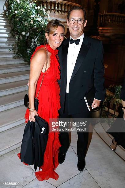 Nicolas Bazire and his wife Fabienne attend the Ballet National de Paris Opening Season Gala at Opera Garnier on September 24 2015 in Paris France