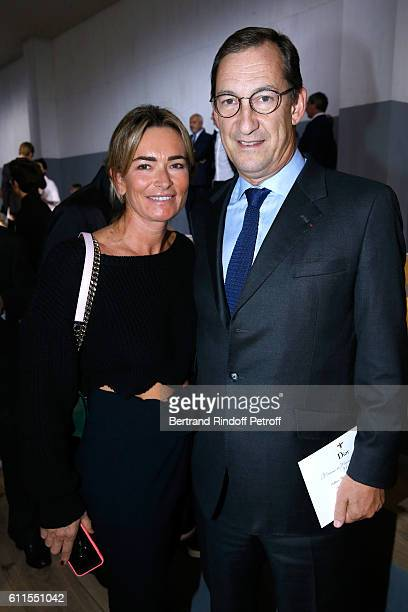 Nicolas Bazire and his wife Fabienne attend the Christian Dior show as part of the Paris Fashion Week Womenswear Spring/Summer 2017 on September 30...
