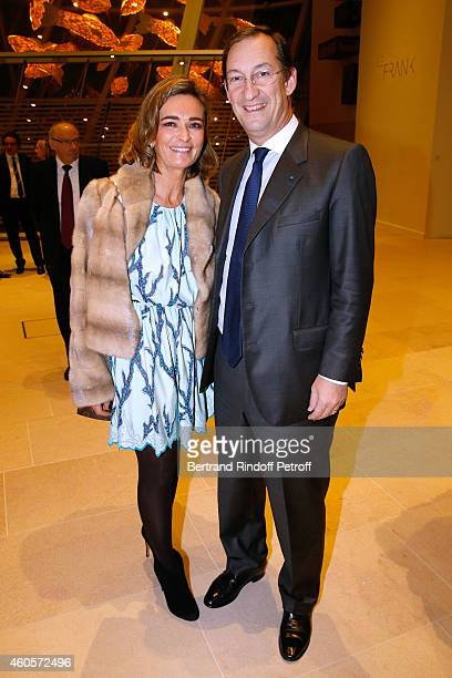 Nicolas Bazire and his wife Fabienne attend the 'Fondation Claude Pompidou' Charity Party at Fondation Louis Vuitton on December 16 2014 in Paris...