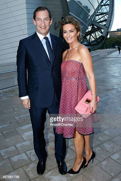 Nicolas Bazire and his wife Fabienne attend the Foundation Louis Vuitton Opening at Foundation Louis Vuitton on October 20 2014 in...