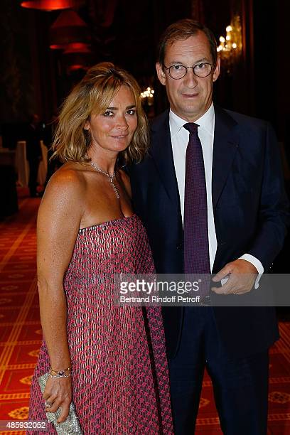 Nicolas Bazire and his wife Fabienne attend the Grand Bal de Deauville For Care France Association with Dior in Casino Barriere de Deauville on...