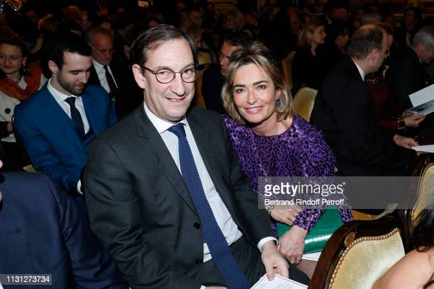 Nicolas Bazire and his wife Fabienne Bazire attend the Fondation Prince Albert II De Monaco Evening at Salle Gaveau on February 21 2019 in Paris...