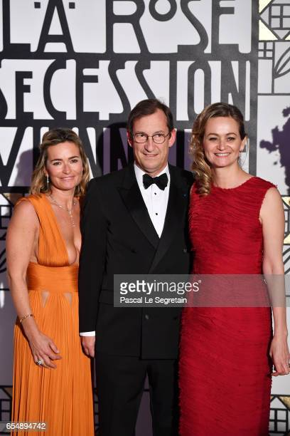 Nicolas Bazire his wife Fabienne Bazire and Guilaine Chenu attend the Rose Ball 2017 To Benefit The Princess Grace Foundation at Sporting MonteCarlo...