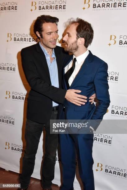 Nicolas Bedos and Antoine Gouy attend 'Monsieur et Madame Adelman' Premiere at Elysee Biarritz on March 6 in Paris France