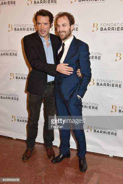 Nicolas Bedos and Antoine Gouy attend 'Monsieur et Madame Adelman' Premiere at Elysee Biarritz on March 6 in Paris France