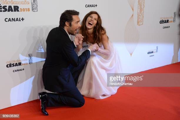 Nicolas Bedos and Doria Tillier arrive at the Cesar Film Awards 2018 at Salle Pleyel on March 2 2018 in Paris France