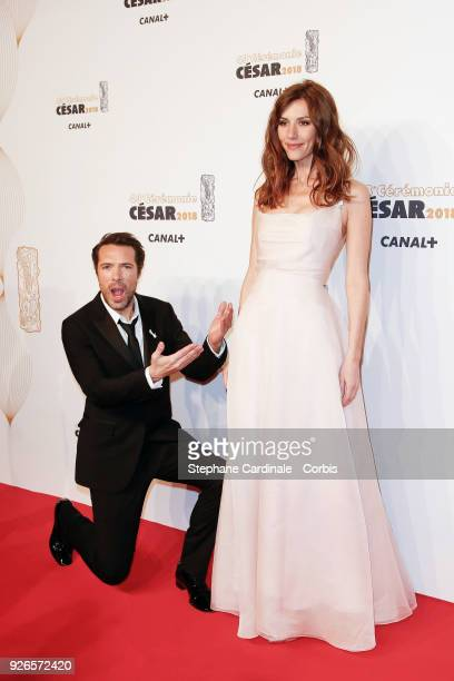 Nicolas Bedos and Doria Tillier arrive at the Cesar Film Awards 2018 at Salle Pleyel at Le Fouquet's on March 2 2018 in Paris France