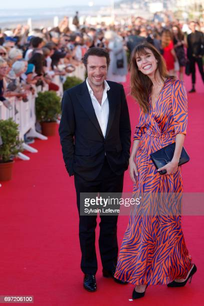 Nicolas Bedos and Doria Tillier attend closing ceremony red carpet of 31st Cabourg Film Festival on June 17 2017 in Cabourg France