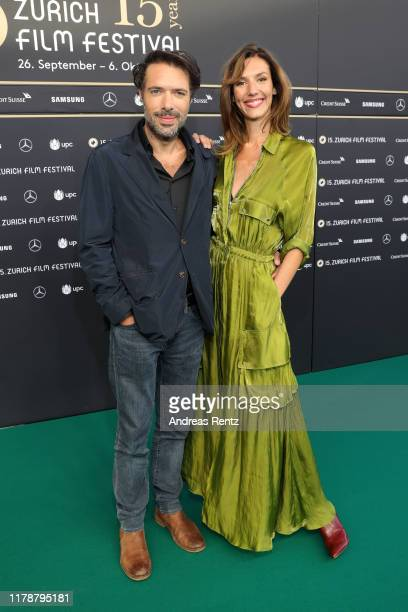 Nicolas Bedos and Doria Tillier attend the La Belle Epoque premiere during the 15th Zurich Film Festival at Kino Corso on October 03 2019 in Zurich...