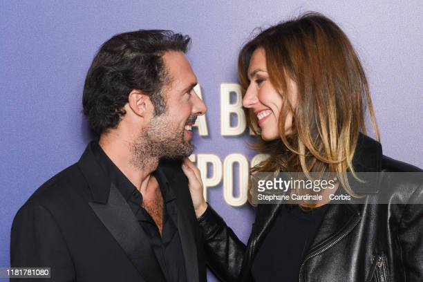 Nicolas Bedos and Doria Tillier attend the La Belle Epoque premiere at cinema Gaumont Opera Capucines on October 17 2019 in Paris France