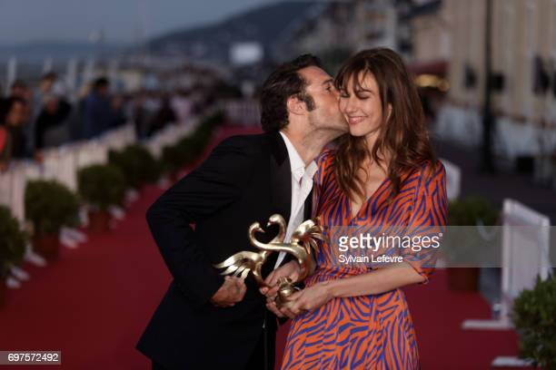 Nicolas Bedos and Doria Tillier attend the Winners' Red Carpet after the closing ceremony of 31st Cabourg Film Festival on June 17 2017 in Cabourg...