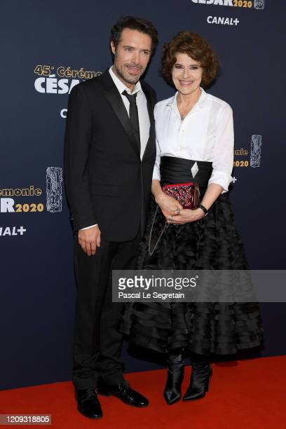 Nicolas Bedos and Fanny Ardant arrive at the Cesar Film Awards 2020 Ceremony At Salle Pleyel In Paris on February 28 2020 in Paris France