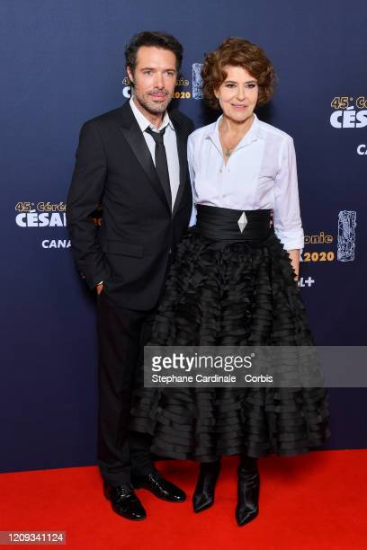 Nicolas Bedos and Fanny Ardant arrives at the Cesar Film Awards 2020 Ceremony At Salle Pleyel In Paris on February 28 2020 in Paris France
