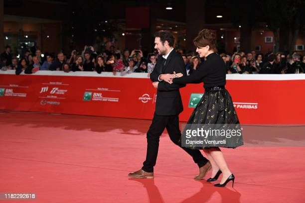 Nicolas Bedos and Fanny Ardant attend the La Belle Epoque red carpet during the 14th Rome Film Festival on October 20 2019 in Rome Italy