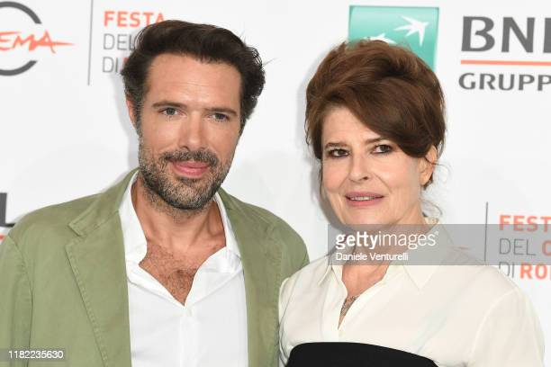 Nicolas Bedos and Fanny Ardant attend the photocall of the movie La belle Epoque during the 14th Rome Film Festival on October 20 2019 in Rome Italy