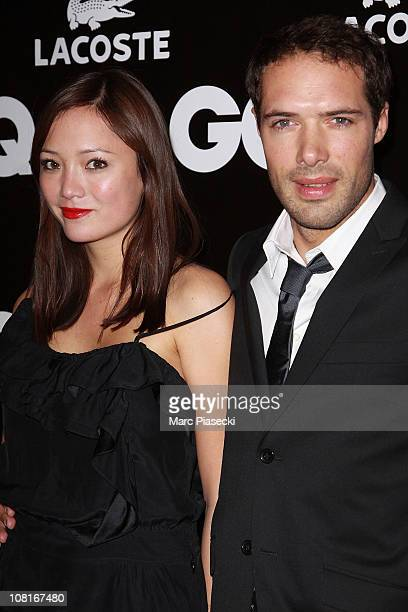 Nicolas Bedos and his girlfriend Pom Klementieff attend the 'GQ Man of the year 2010' at ShangriLa Hotel Paris on January 19 2011 in Paris France