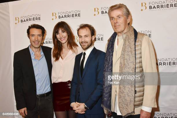 Nicolas Bedos Doria Tillier Antoine Gouy and Dominique Desseigne attend 'Monsieur et Madame Adelman' Premiere at Elysee Biarritz on March 6 in Paris...