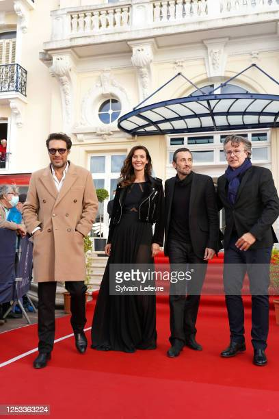 Nicolas Bedos Doria Tillier Michael Cohen and François Kraus attend the Closing Ceremony of the 34th Cabourg Film Festival on June 29 2020 in Cabourg...