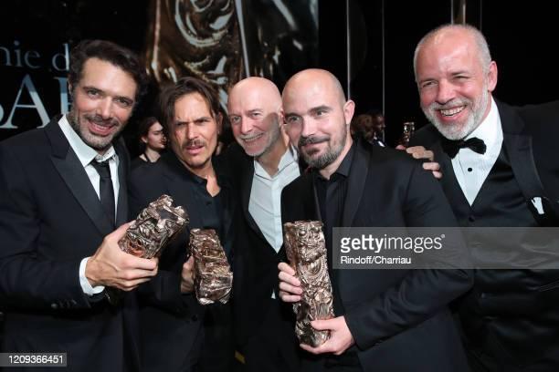 "Nicolas Bedos who won the ""Best Original Screenplay"" award for the movie 'La Belle Époque' Dan Levy who won the Best Original Score award for the..."